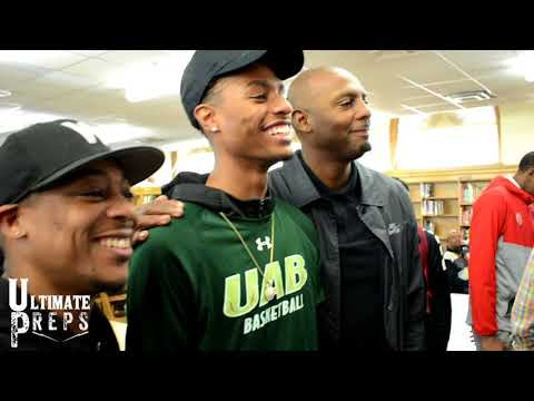 Ryan Boyce Signs Scholarship to UAB!! Penny Hardaway & Supporters in Attendance!