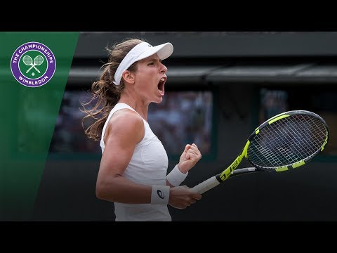 Johanna Konta v Maria Sakkari highlights - Wimbledon 2017 third round