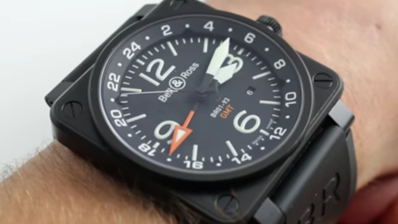 dab6464fb5b Bell   Ross BR 01-93 GMT Luxury Watch Review - YouTube