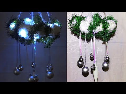 Christmas hanging/ceiling decoration idea.Christmas wreath.