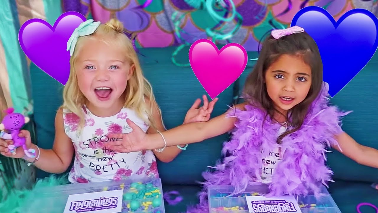 Everleigh And Ava Freaky Friday Dress Up With Fingerling Bffs