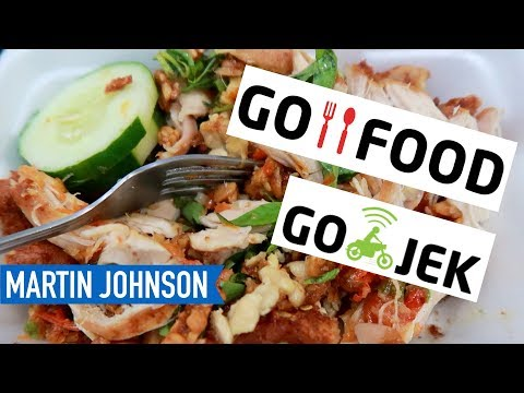 How to Order Lunch with Go-Food from Go-Jek | Indonesian Food