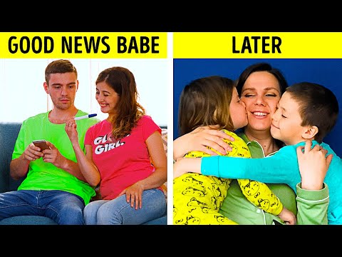 FUNNY TRUE THINGS OF BEING PARENTS || SMART PREGNANCY AND PARENTING LIFE HACKS