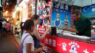 Funny ice-cream man in Taiwan