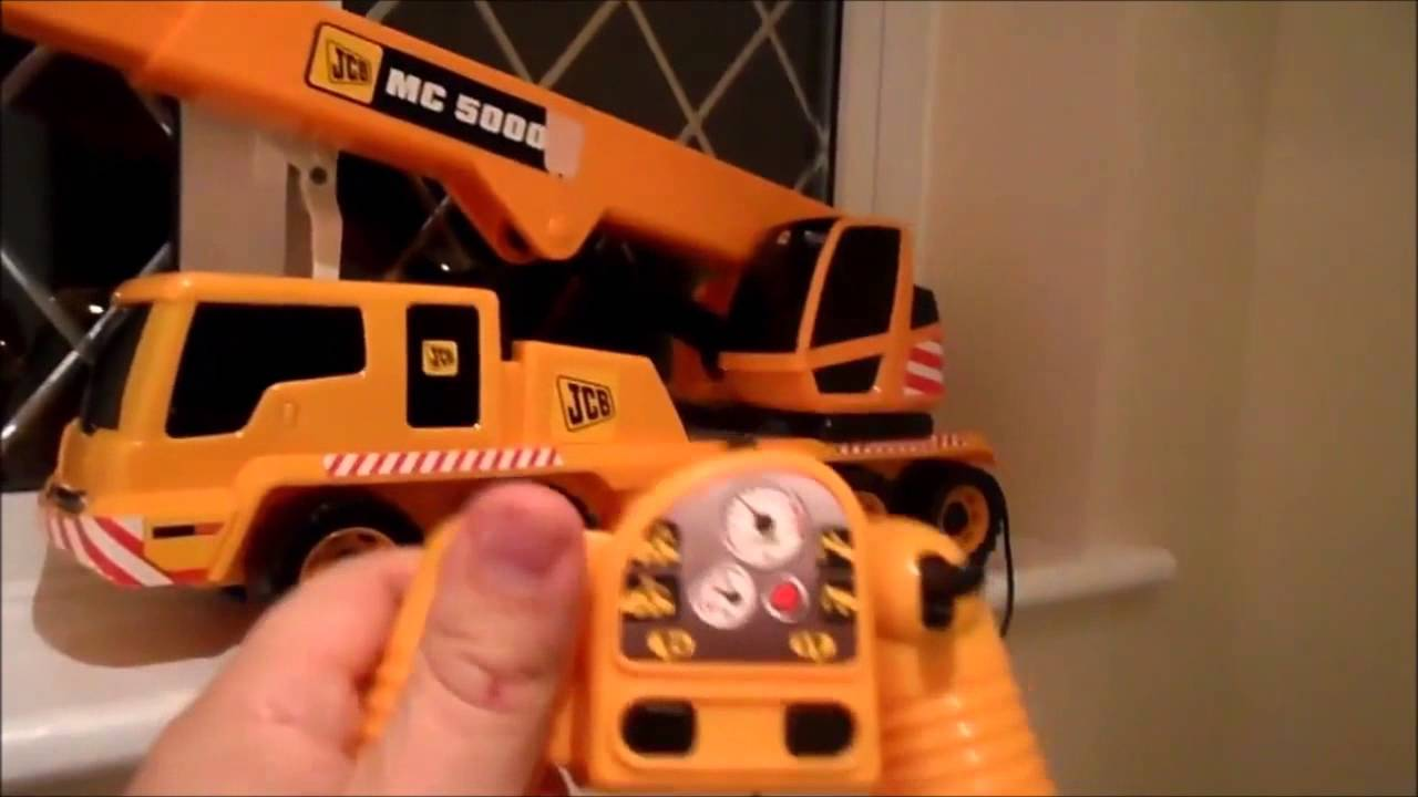 Amazing Large Scale Remote Control Jcb Mobile Crane Motorized Truck