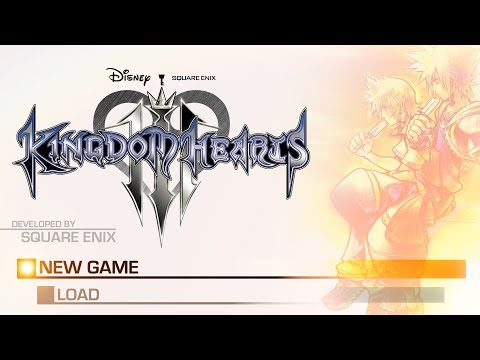 Kingdom Hearts 3: Title/Game Menu Concept