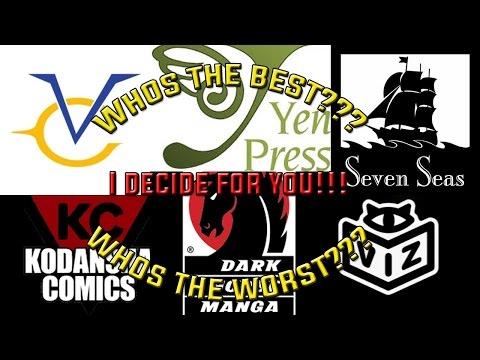 Top 6 - Best Manga Publishers!