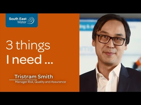 South East Water careers - Tristram Smith, Manager Risk, Quality and Assurance