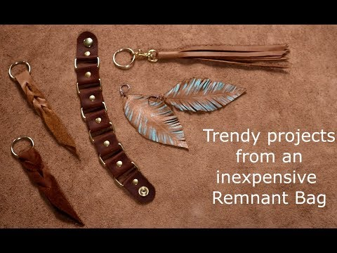 4 Easy Leather Remnant Projects Youtube