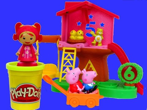 TEAM UMIZOOMI Mighty Matching Treehouse Play-Doh Learn Numbers Shapes