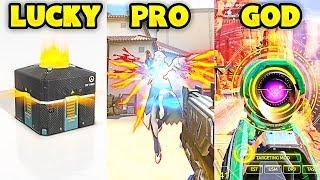 LUCKY vs PRO vs GOD - Overwatch Pro + Funny Moments #33