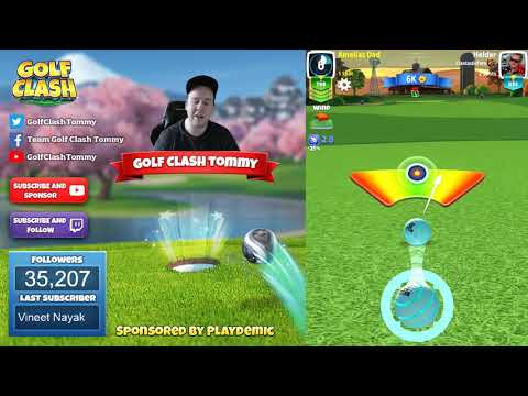 Golf Clash tips, Playthrough, Hole 1-9 - ROOKIE - Vintage Open Tournament!