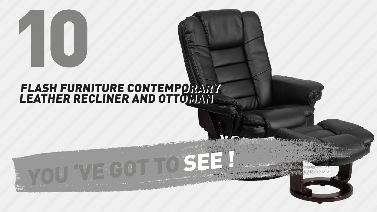 Flash Furniture Contemporary Leather Recliner And Ottoman // New U0026 Popular  2017