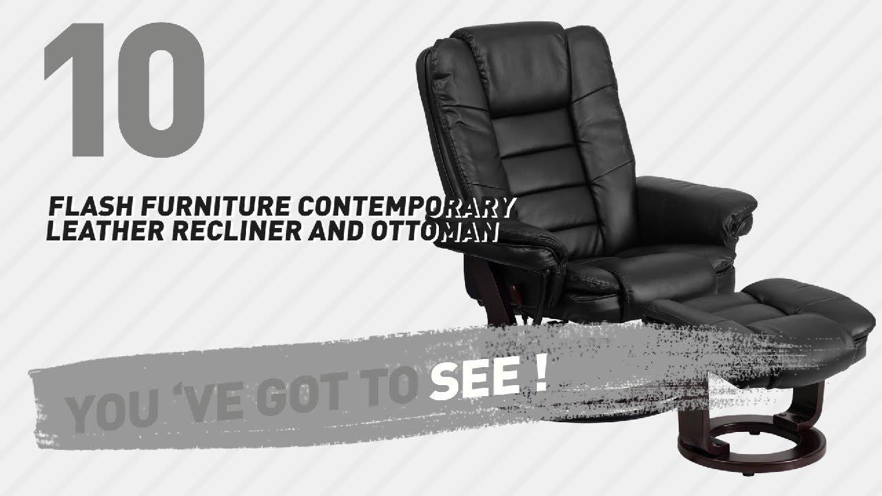 Attirant Flash Furniture Contemporary Leather Recliner And Ottoman // New U0026 Popular  2017