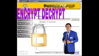 ENCRYPT DAN DECRYPT MENGGUNAKAN PORTABLE PGP