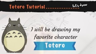 Let's Draw Totoro, a step by step tutorial-Ashley