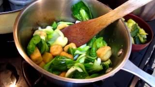 Cooking - Tofu Bokchoy