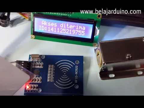 Rfid Door Lock System Using Arduino And Rc 522 Youtube