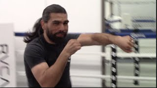 ALFREDO ANGULO (COMPLETE) SHADOW BOXING FOOTAGE AHEAD OF ALL MEXICAN SHOWDOWN v FREDDIE HERNANDEZ