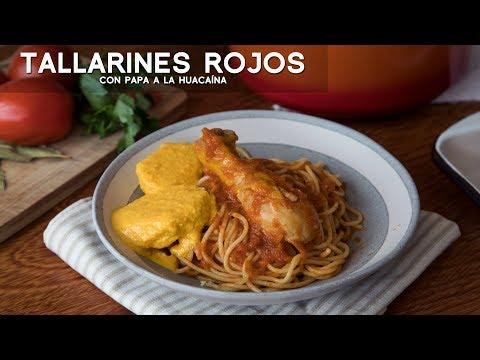 COMO PREPARAR TALLARINES ROJOS | COMIDA PERUANA | ACOMER.PE