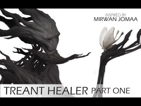 TREANT HEALER - Character Concept Art Tutorial - Part 1