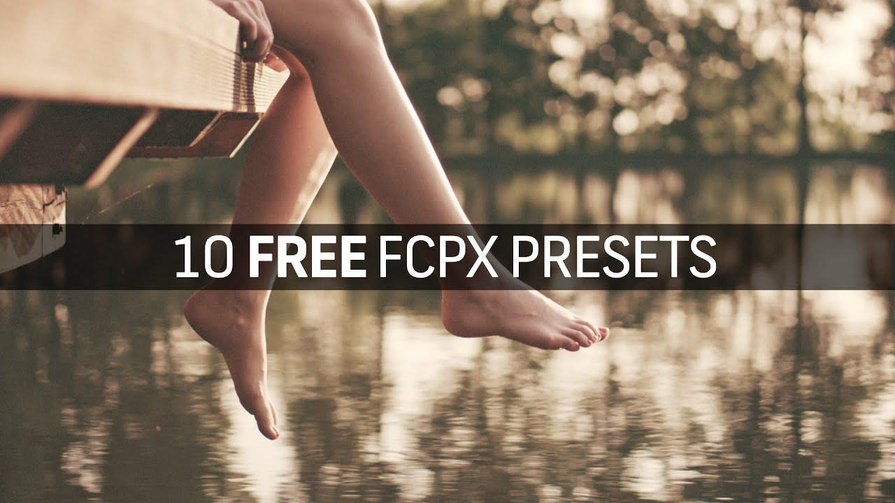 final cut pro presets free download