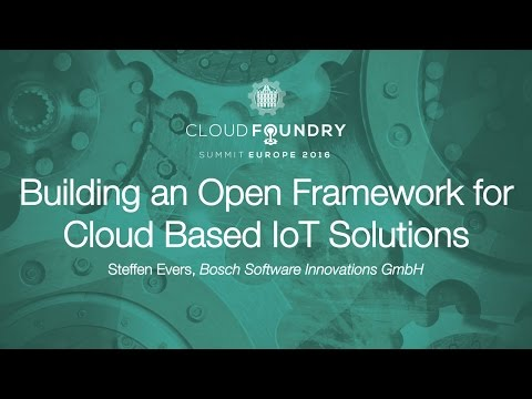 Building an Open Framework for Cloud Based IoT Solutions