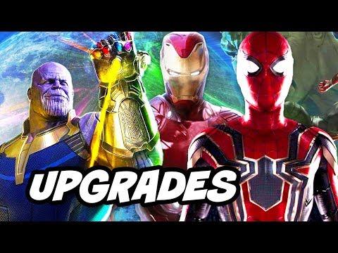 Avengers Infinity War New Armor Upgrades Scene and Trailer Update