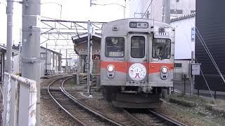 北陸鉄道  7000系 貫通車  鶴来行き  新西金沢 発車