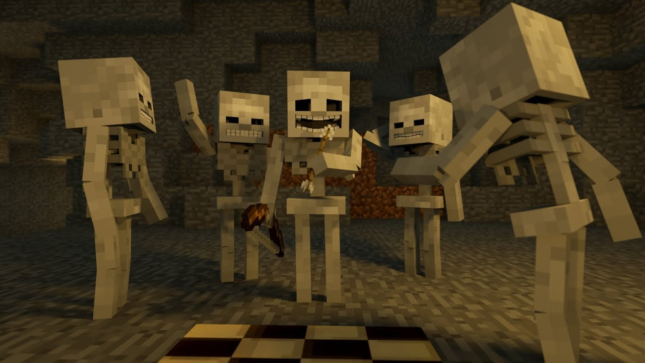 Zombie to Skeleton w/ RELAX O VISION! Minecraft Animation ...