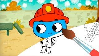 Раскраска -  Котики, Вперед!  Как стать пожарным - современные обучающие мультфильмы для детей