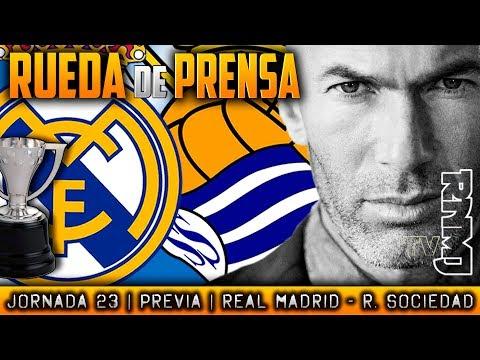 Real Madrid - Real Sociedad Rueda de prensa de Zidane (09/02/2018)   PREVIA LIGA JORNADA 23