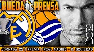 Real Madrid - Real Sociedad Rueda de prensa de Zidane (09/02/2018) | PREVIA LIGA JORNADA 23