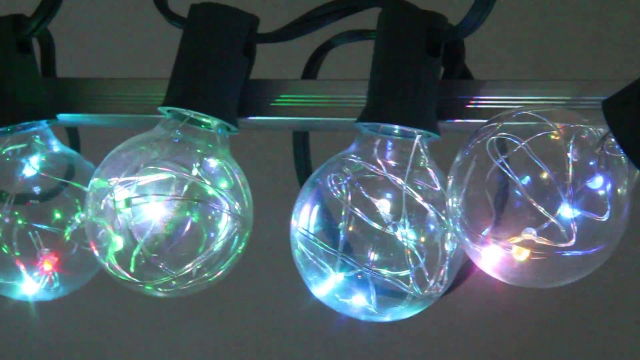 G40 Copper wire LED String Light - YouTube