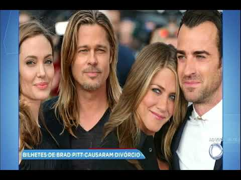 Hora da Venenosa: bilhetes de Brad Pitt causaram divórcio de Jennifer Aniston