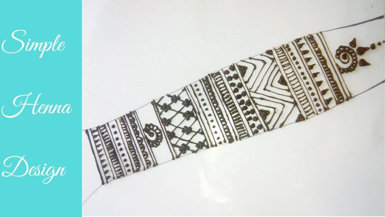 b133747ff Simple Henna Design   Henna Tutorial - 3   Mehendi Design For Inner Forearm