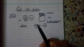 RED CELL INDICES IMPORTANT for VIVA(EASY explanation)