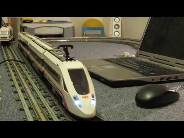 Lego Eisenbahn 60051 mit verlängerten Mittelwagen