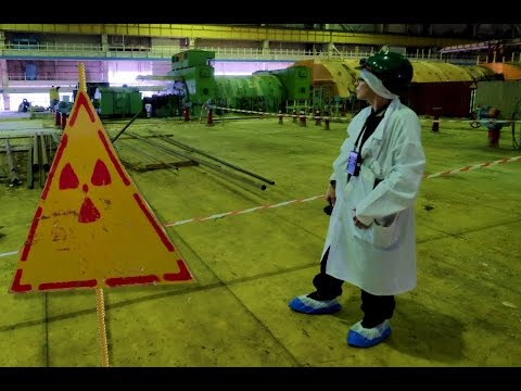 inside Chernobyl's sarcophagus - the turbine hall & ventilation stack (chimney)