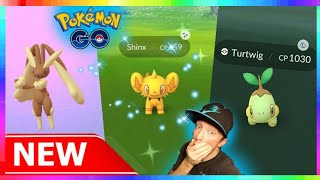 LIVE🔴 NEW GEN 4 POKEMON  - 20+ NEW POKEMON in  POKEMON GO! 💚💯