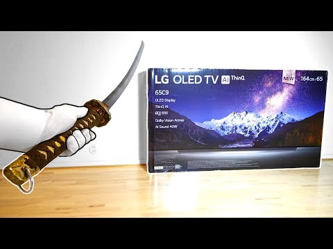 "My New Katana… Unboxing 65"" LG 4K TV (Console Gaming Setup)"