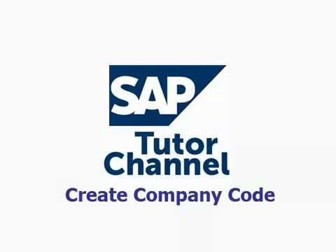 how-to-create-company-code-in-sap