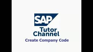 How to create company code in SAP