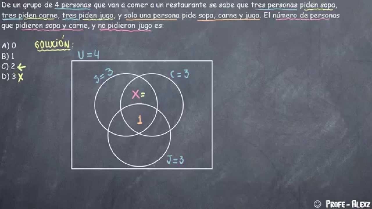 Diagrama De Venn Con Tres Conjuntos Problema 213