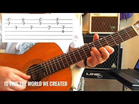 Queen - Is this the World We Created...? - Guitar Tutorial (Guitar Tab)