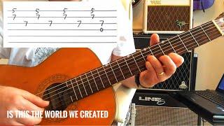 الملكة - هو هذا العالم خلقنا...? - دروس الغيتار (التبويب الغيتار)