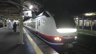 E653系 特急しらゆき8号 新井行 直江津駅発車