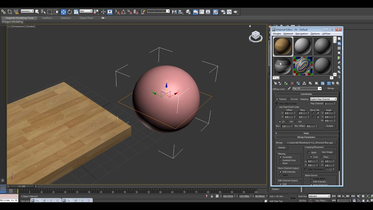 3ds max UVW map tutorial: texture and material set up - YouTube