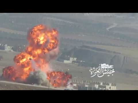 Compilation: Free Syrian Army forces destroying regime weapons & assets  rural Hama - idlib