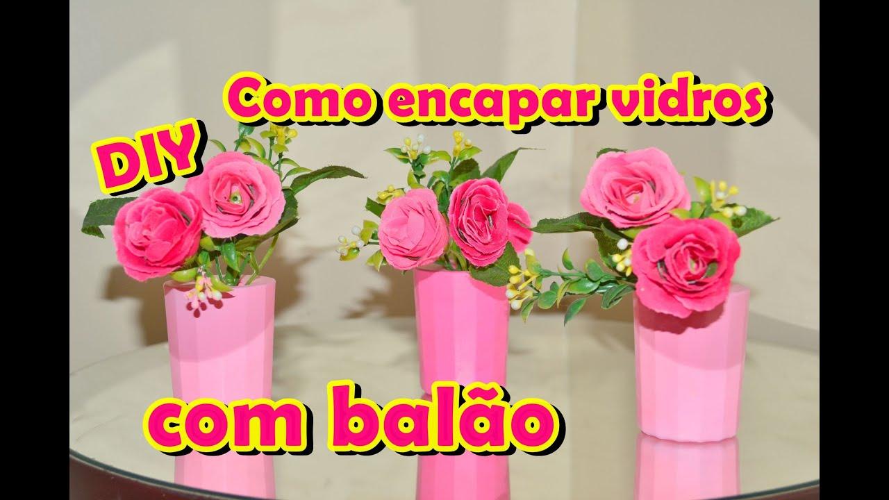 Famosos Como encapar garrafas ou potes de vidro com BALÃO - YouTube OA87